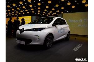 2016巴黎车展:雷诺电动车ZOE Z.E.40发布